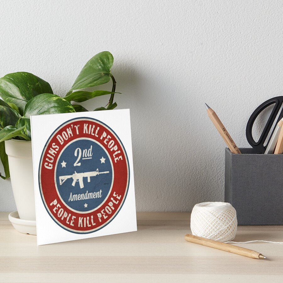 Second Amendment Art Board Print
