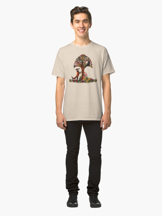 Alternate view of fox and crow Classic T-Shirt