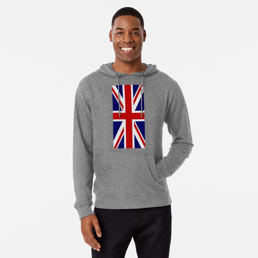 British, Union Jack, PORTRAIT, Flag, 1;2, UK, GB, United Kingdom, Pure & simple  Leichter Hoodie