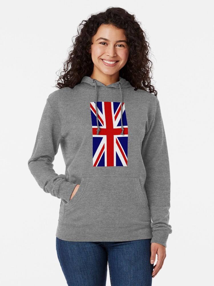 Alternative Ansicht von British, Union Jack, PORTRAIT, Flag, 1;2, UK, GB, United Kingdom, Pure & simple  Leichter Hoodie