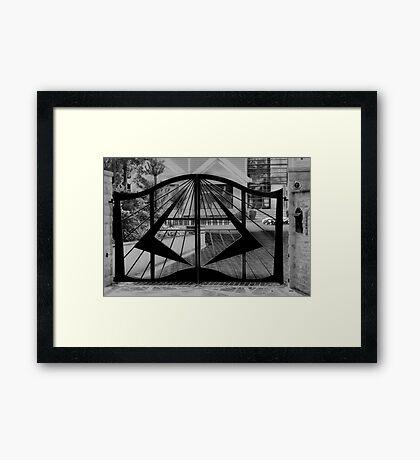 Piano Gates Framed Print