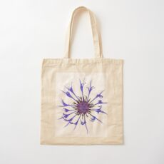 Thin blue flames Cotton Tote Bag