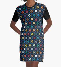 VINYL blue Graphic T-Shirt Dress