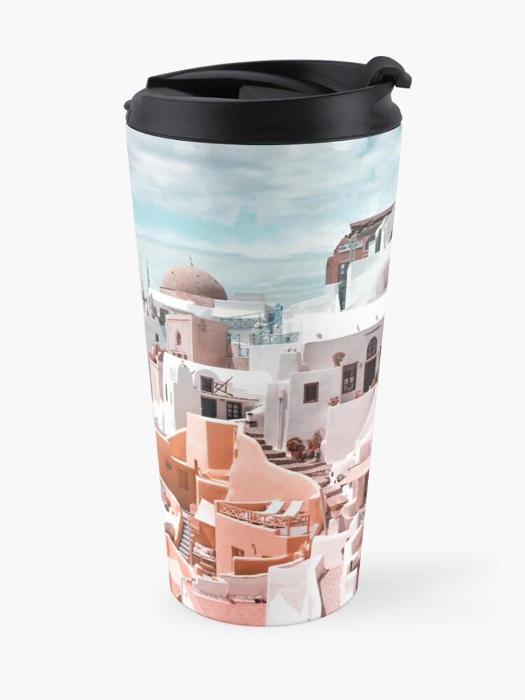 Alternate view of Santorini Oia Greece Travel Mug