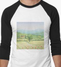 Tuscan Vineyard, Tuscany, Italy Men's Baseball ¾ T-Shirt