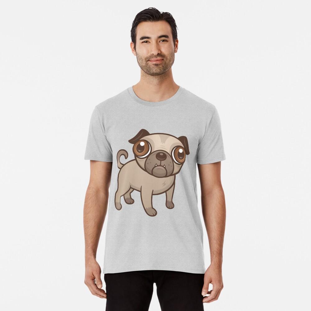 Mops-Welpen-Karikatur Premium T-Shirt