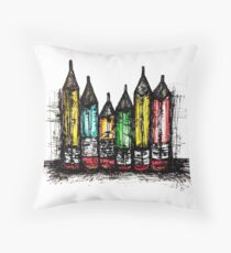 All my favorite pencils Throw Pillow