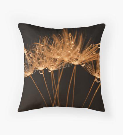 Golden Dandelions Throw Pillow