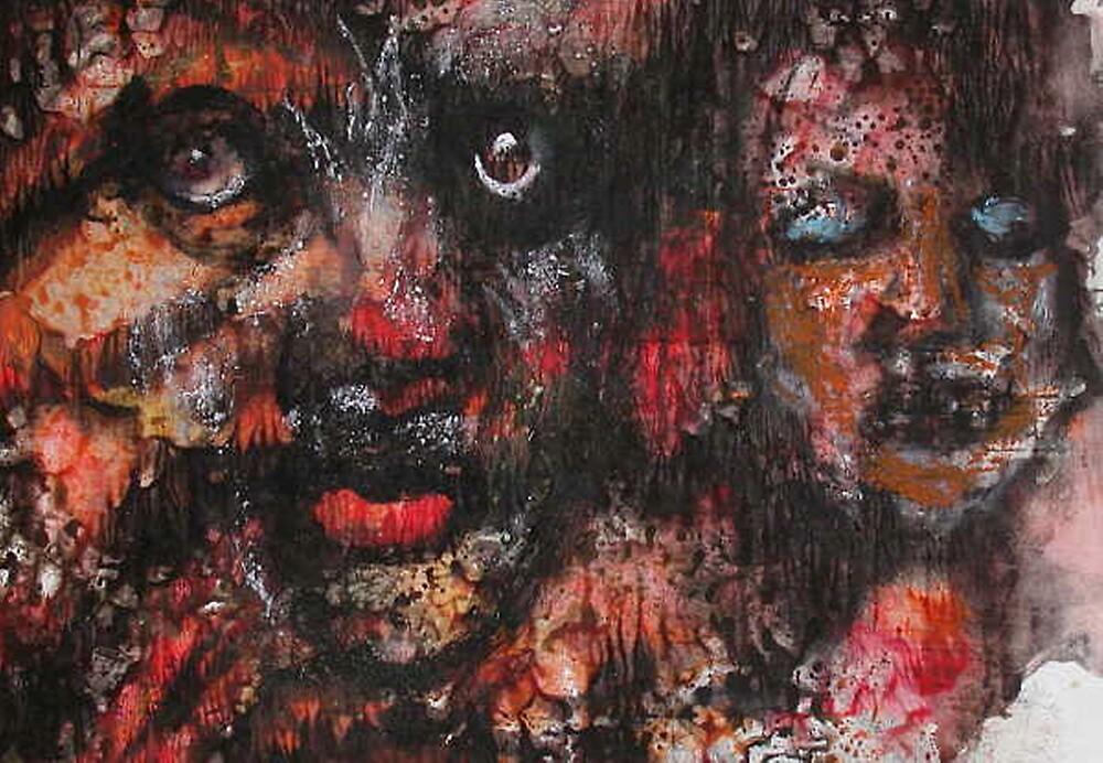 "Faces, Bernard Lacoque-23  ""Go through it - peace is waiting"" by ArtLacoque"