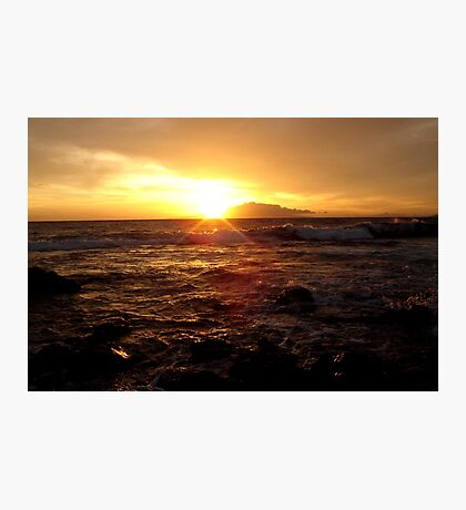 Bright Maui Waves  Photographic Print