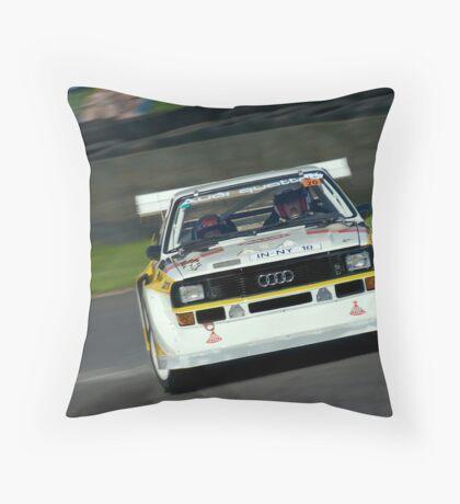 Audi Quattro powerslides Throw Pillow
