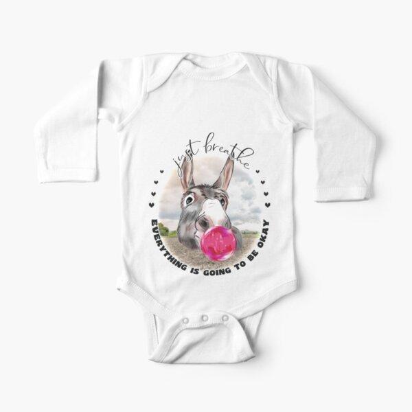 Just Breath Donkey Bubblegum  Long Sleeve Baby One-Piece