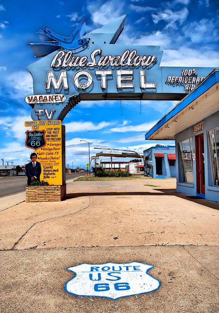 Blue Swallow Motel. Tucumcari, New Mexico by chrisyfitzuk