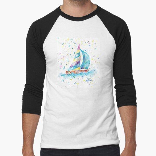 Sailboat by Jan Marvin Baseball ¾ Sleeve T-Shirt