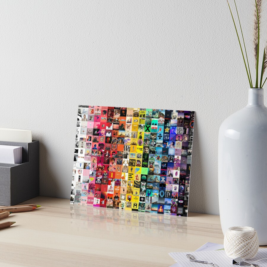 Music Collage Art Board Print