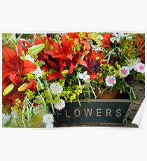 Country fair flowers Poster