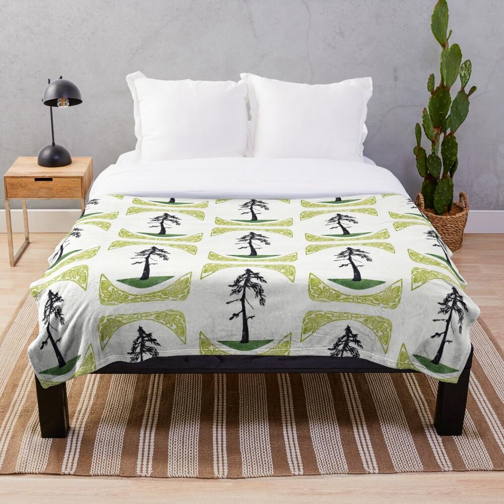 Proud Pine Throw Blanket