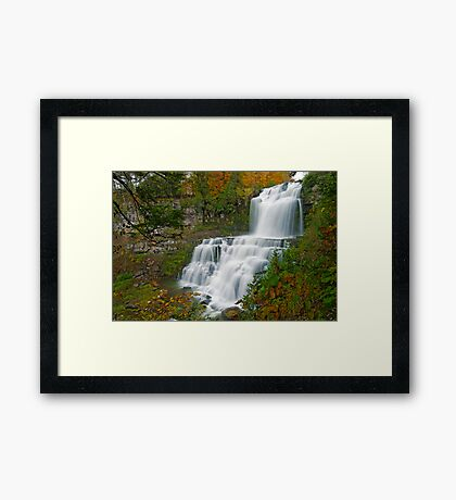 Overview in Autumn - Chittenango Falls Framed Print