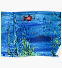 Red fish blue fish Poster