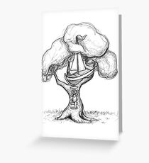 Escaping The World Greeting Card