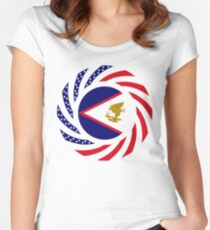 American Samoa Multinational Patriot Flag Series Fitted Scoop T-Shirt