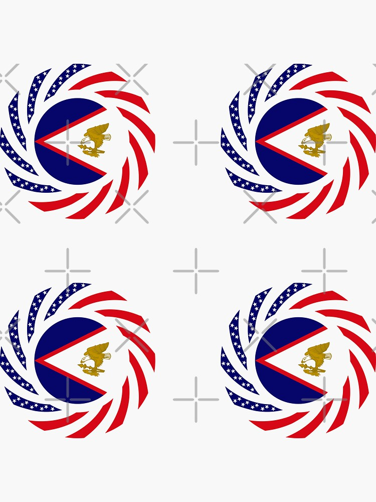 American Samoa Multinational Patriot Flag Series by carbonfibreme