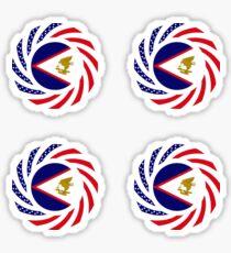 American Samoa Multinational Patriot Flag Series Sticker
