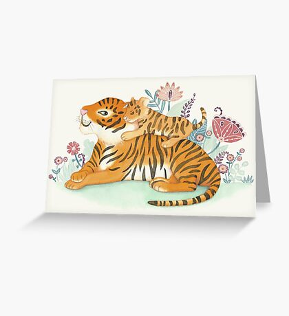 Tiger and little cub Greeting Card