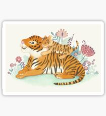 Tiger and little cub Sticker