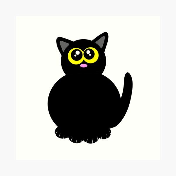 Lil fat kitty Art Print