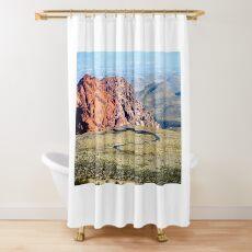Curvy Road in the Nevada desert Shower Curtain