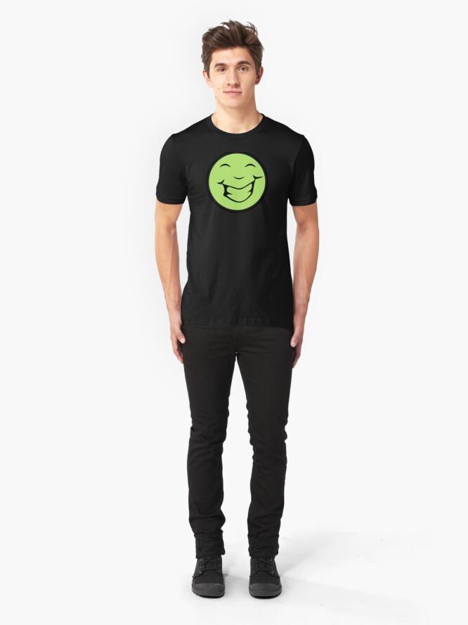 Vista alternativa de Camiseta ajustada happy moon face