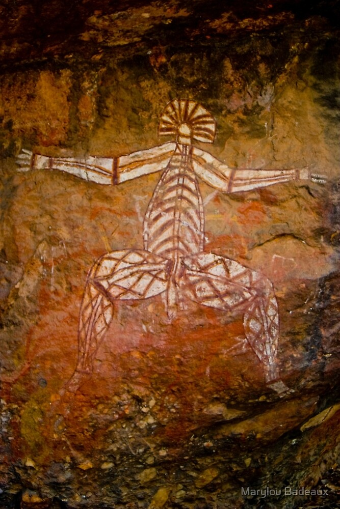 Aboriginal Cave Art by Marylou Badeaux