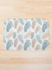 Tropical, feathery leaves Bath Mat