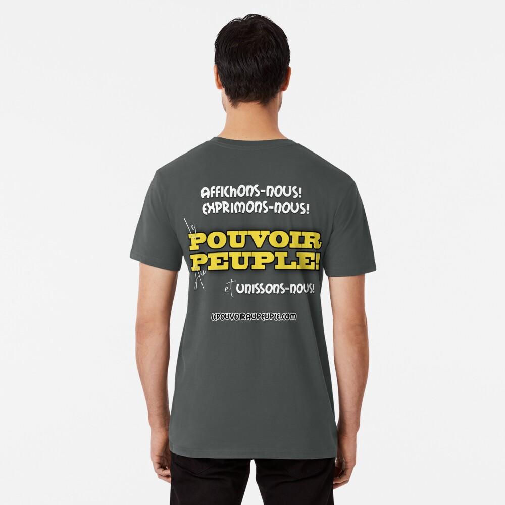 T-shirt premium «LE POUVOIR APPARTIENT AU PEUPLE!»