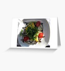 quiche appetizer Greeting Card