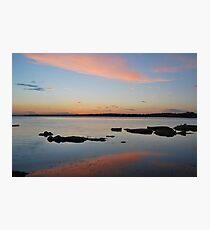 Tuggerah Lake 22-10-10 ( sunset ) Photographic Print