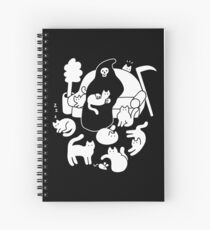 Death And His Cats Spiral Notebook