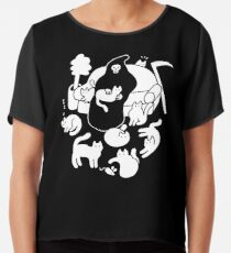 Death And His Cats Chiffon Top