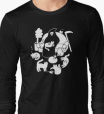 Death And His Cats Long Sleeve T-Shirt