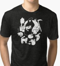 Death And His Cats Tri-blend T-Shirt