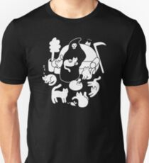 Death And His Cats Slim Fit T-Shirt