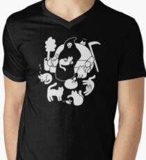 Death And His Cats V-Neck T-Shirt