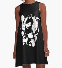 Death And His Cats A-Line Dress