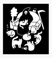 Death And His Cats Photographic Print