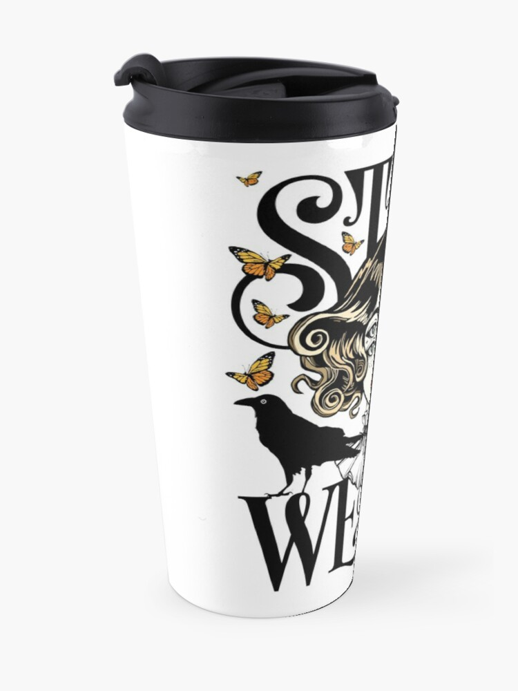 Alternate view of Rose and The Ravens {Stay Weird} Colour Version Travel Mug