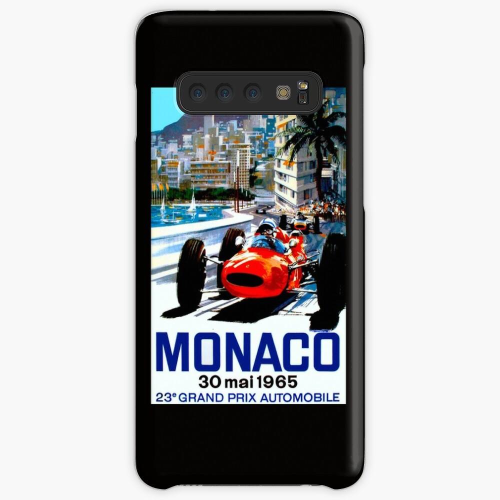 """MONACO GRAND PRIX"" Vintage Auto Racing Print Hülle & Klebefolie für Samsung Galaxy"
