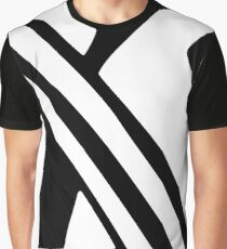 White and Black Dazzle Graphic T-Shirt