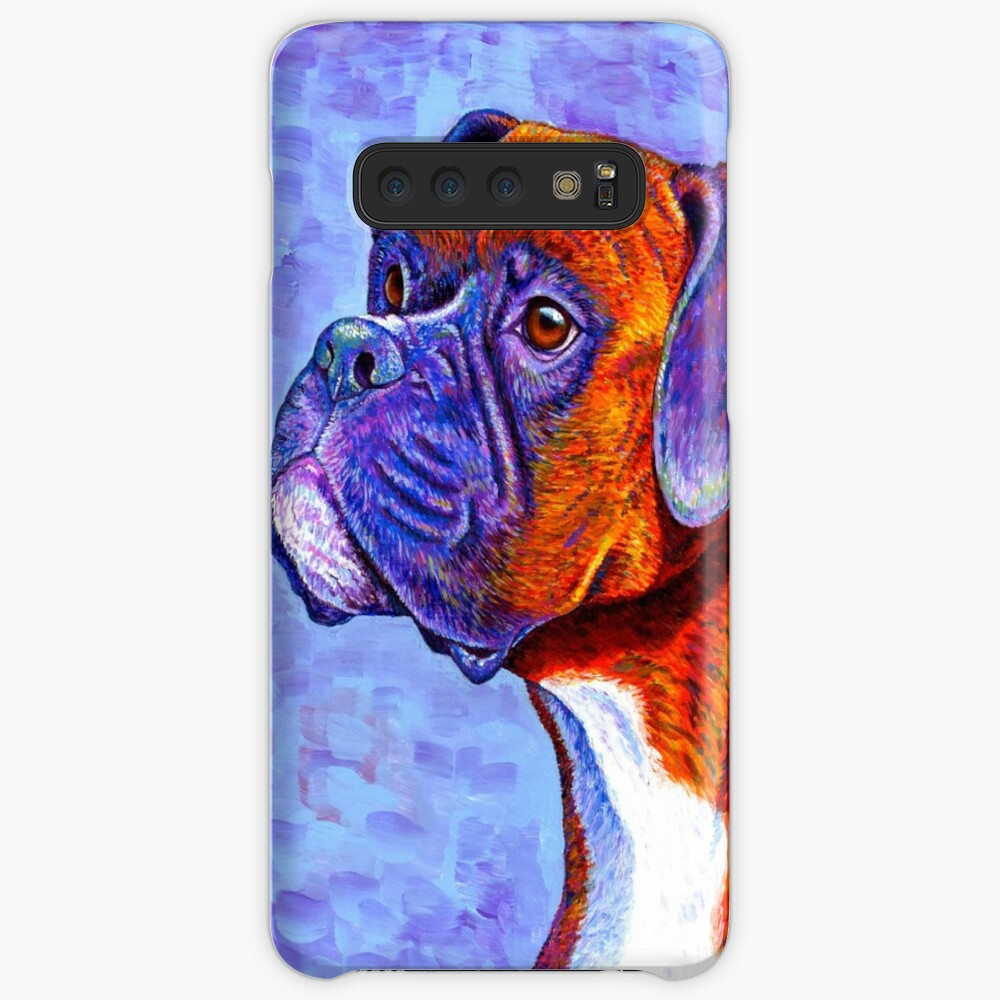 Devoted Guardian - Colorful Brindle Boxer Dog Samsung Galaxy Snap Case