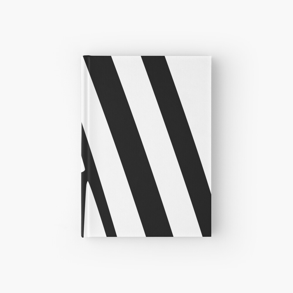 White and Black Thin Dazzle Hardcover Journal
